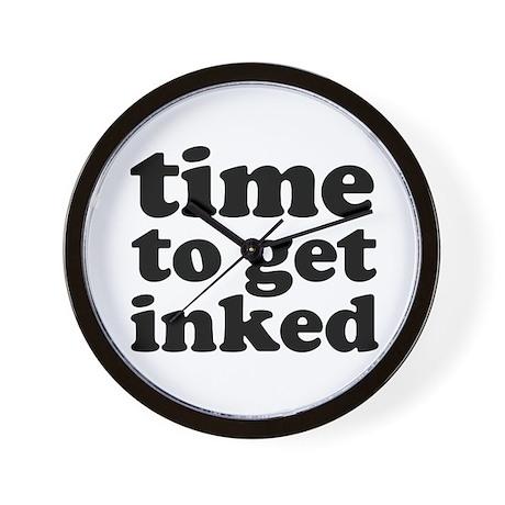 get inked designer wall clock bestseller