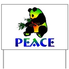 Peace Panda Bear Yard Sign