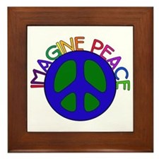 Image Peace Framed Tile