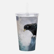 Black Crow Acrylic Double-wall Tumbler