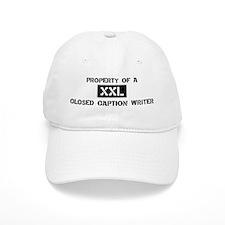 Property of: Closed Baseball Caption W Baseball Cap