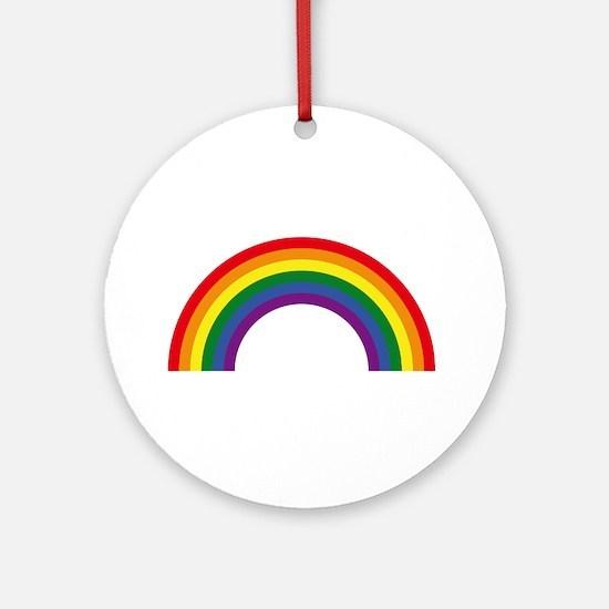 Rainbow / Arc-En-Ciel / Arcoíris (6 Round Ornament