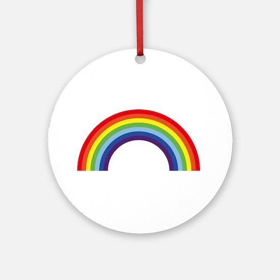 Rainbow / Arc-En-Ciel / Arcoíris (7 Round Ornament
