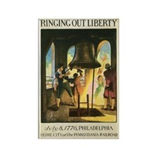 Philly Liberty Bell Vintage P Rectangle Magnet