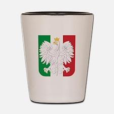 Polish Italian Coat of Arms Shot Glass