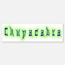 CT-Chupracabra Text Bumper Bumper Bumper Sticker