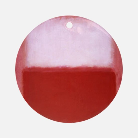 ROTHKO RED AND WHITE-BLEEDING HEART Round Ornament
