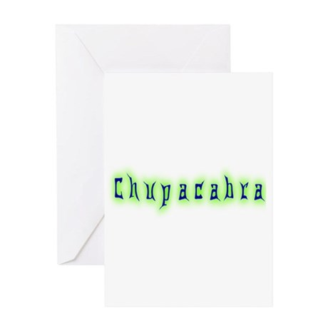 CT-Chupracabra Text Greeting Card