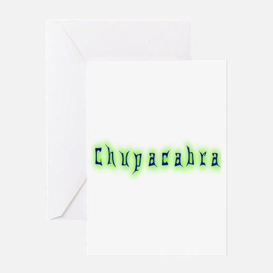 CT-Chupracabra Text Greeting Card