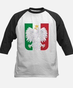 Polish Italian Coat of Arms Baseball Jersey