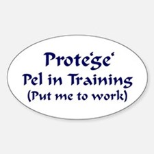 Pel in Training Oval Decal