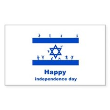 happy independence day Rectangle Decal
