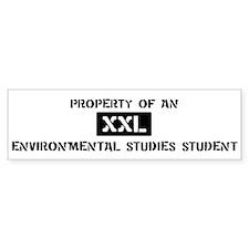 Property of: Environmental St Bumper Bumper Sticker