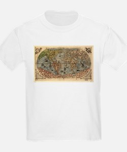 Vintage Map of The World (1565) T-Shirt