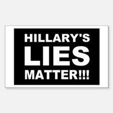 Hillary's Lies Matter Decal