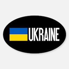 Ukraine: Ukrainian Flag & Ukraine Sticker (Oval)