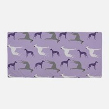 Greyhounds On Purple Beach Towel