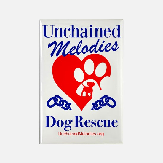 Unchained Melodies Dog Rescue Heart Magnets