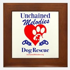 Unchained Melodies Dog Rescue Heart Framed Tile