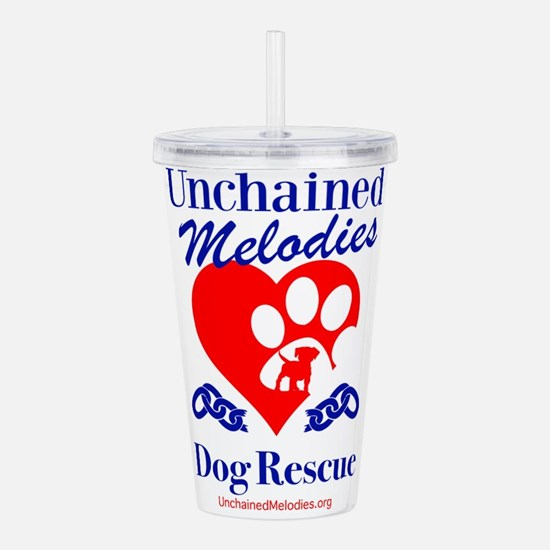 Unchained Melodies Dog Rescue Heart Acrylic Double