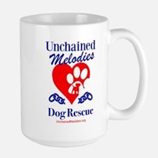 Unchained Melodies Dog Rescue Heart Mugs