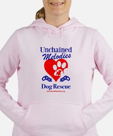 Unchained Melodies Dog Rescue Heart Women's Hooded