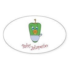 Baby Jalapeno Oval Decal