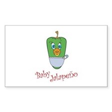 Baby Jalapeno Rectangle Decal