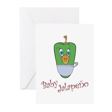 Baby Jalapeno Greeting Cards (Pk of 20)