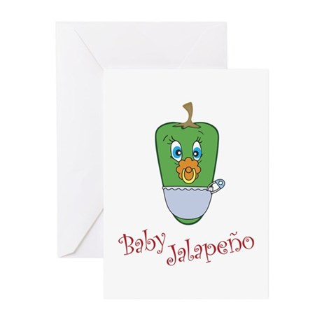 Baby Jalapeno Greeting Cards (Pk of 10)