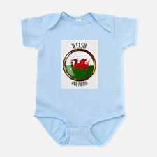 Welsh Proud Flag Button Body Suit
