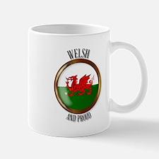 Welsh Proud Flag Button Mugs