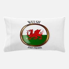 Welsh Proud Flag Button Pillow Case