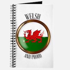 Welsh Proud Flag Button Journal