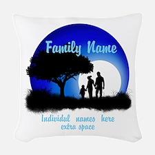 Happy Family Woven Throw Pillow