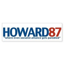 HOWARD87 Bumper Bumper Sticker
