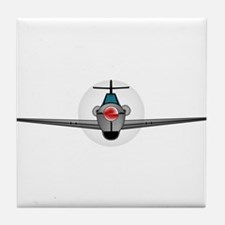 Old Style Fighter Aircraft Tile Coaster
