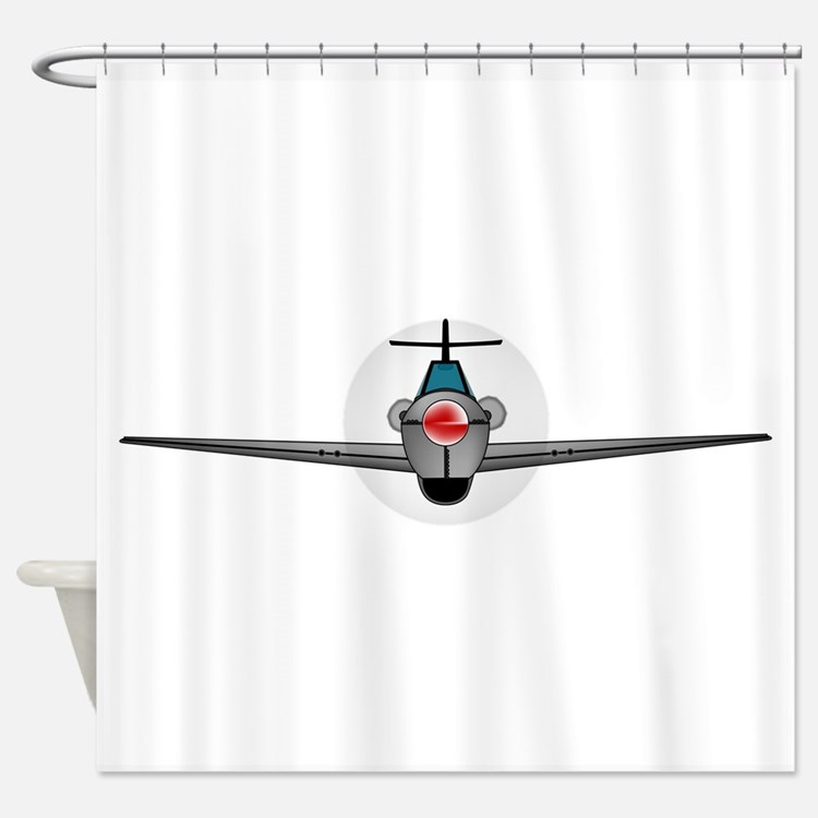 Old Style Fighter Aircraft Shower Curtain