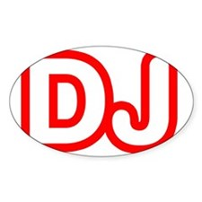 DJ Oval Decal