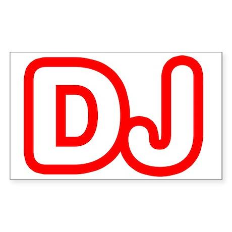 DJ Rectangle Sticker