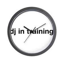 DJ In Training Wall Clock