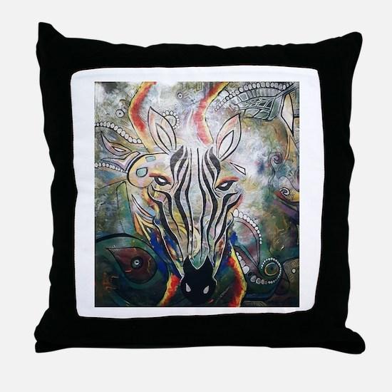 Cute Zebra Throw Pillow