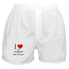 I Love My Geophysical Data Processor Boxer Shorts