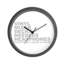 Everyting A Good DJ Needs Wall Clock