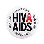 "HIV/AIDS 3.5"" Button (100 pack)"
