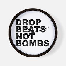 Drop Beats Not Bombs 4 Wall Clock