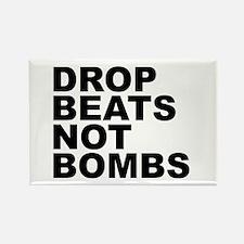 Drop Beats Not Bombs 4 Rectangle Magnet