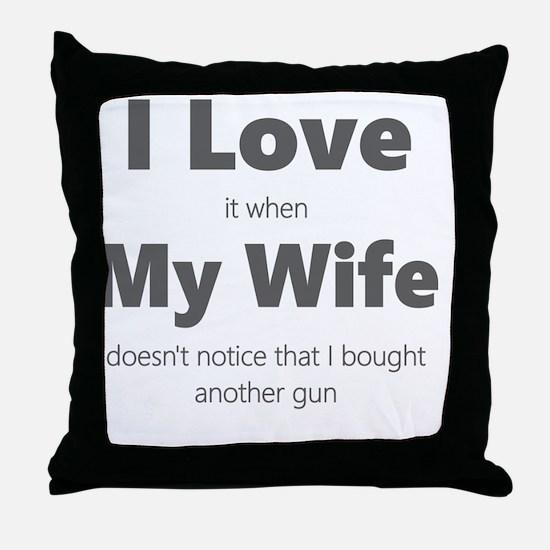 Cute Shooting Throw Pillow
