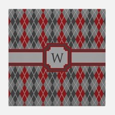 Ashes and Embers Argyle Tile Coaster
