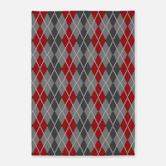 Ashes and Embers Argyle 5'x7'Area Rug